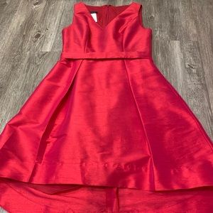 Alfred Sung high-low formal party dress
